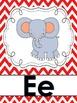 Alphabet Posters:  Primary Chevron Backgrounds