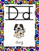 Alphabet Posters Print-Lined {White Rainbow Polka-Dots}