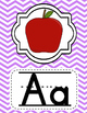 Alphabet Posters Classroom Decor- Purple, Blue, Pink, and