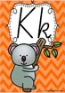 Alphabet Posters Rainbow Chevron - QLD Cursive