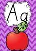 Alphabet Posters Rainbow Chevron - SA Modern Cursive Beginners