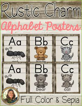 Alphabet Posters {Rustic Charm}