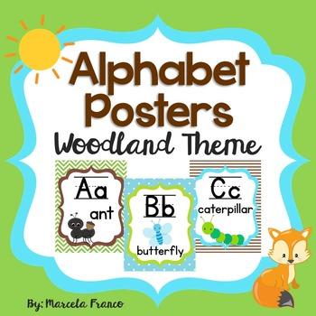 Alphabet Posters ~ Woodland Theme