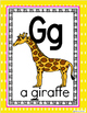 Alphabet Posters-Yellow Polka Dot ENGLISH Version with Pic