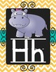 Alphabet Posters and Bunting {Chalkboard Chevron}