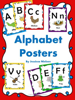 Alphabet Posters (full sized and smaller card size)