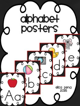 Alphabet Posters in Black: Print