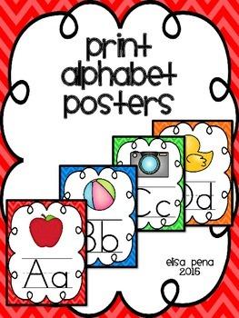 Alphabet Posters in Print: Chevron
