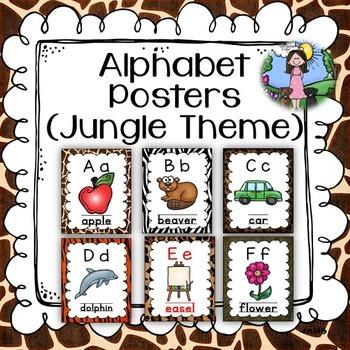 Alphabet Posters (jungle/safari)