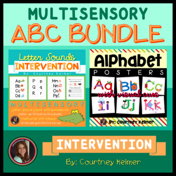 Alphabet Posters with Visual Cues and Letter Sound Chant I