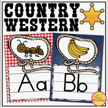 Alphabet Posters {Country Western Classroom Decor Theme}
