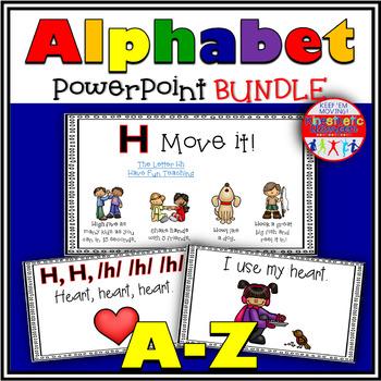 Alphabet Activities - Letter Sounds - Powerpoints: A-Z Bundle