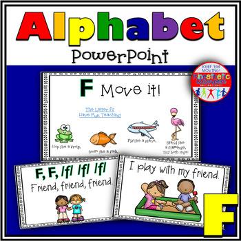 Alphabet Activity - Letter Sounds - Powerpoint: The Letter F