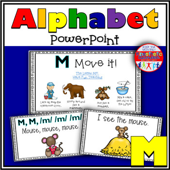 Alphabet Activity - Letter Sounds - Powerpoint: The Letter M