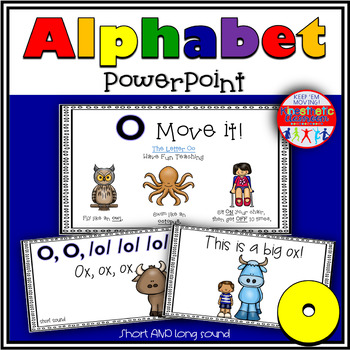 Alphabet Activity - Letter Sounds - Powerpoint: The Letter O