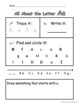 Alphabet Practice - All About the Letters - Plus Alphabet