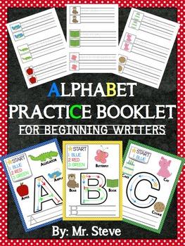 Alphabet Practice Booklet for Beginning Writers