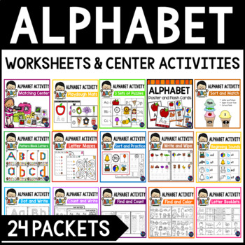 Alphabet Bundle Alphabet Activities for the Letter of the Week