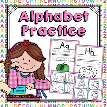 Alphabet Practice Handwriting Worksheets and Playdough Mats