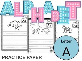 Alphabet Practice Worksheet - Letter A