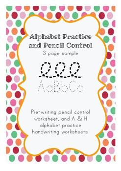 Alphabet Practice and Pencil Control - Free Sample
