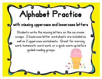 Alphabet Practice with Missing Uppercase & Lowercase Lette