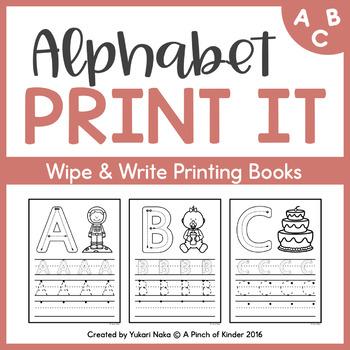 Alphabet Print It: Simple Wipe & Write Printing Books