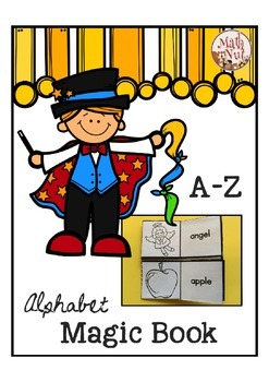 Alphabet Letter of the Week Foldable Book with Pictures and Words