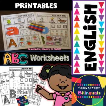Alphabet Printables - English Set - Download the Preview t