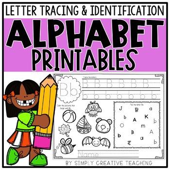 Alphabet Tracing Worksheets & Printables