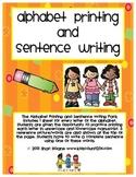 Alphabet Printing and Sentence Writing
