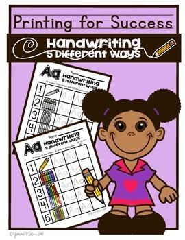Alphabet Handwriting Practice! Handwriting 5 Different Way