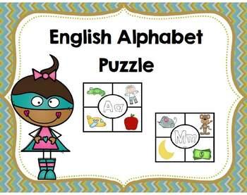 Alphabet Puzzle-English