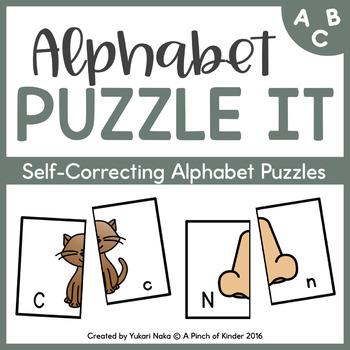 Alphabet Puzzle It: Self-Correcting Alphabet Puzzles
