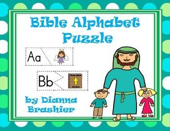 Alphabet Christian Theme Puzzle Activity