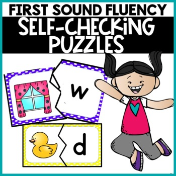 Alphabet Puzzles First Sound Puzzles Game Self-Checking