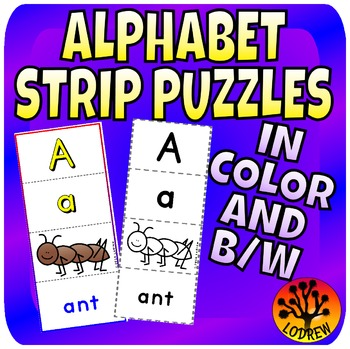 Alphabet Puzzles Literacy Center Beginning Sounds Kinderga