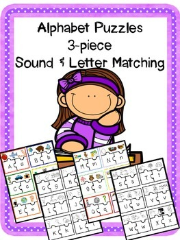 Alphabet Puzzles - Sound and Letter Matching