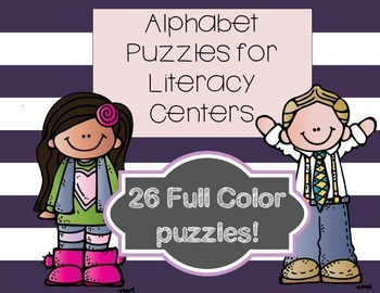 Alphabet Puzzles for Literacy Centers