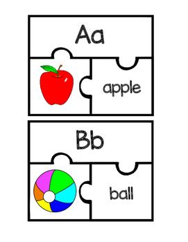Alphabet Puzzles or Match