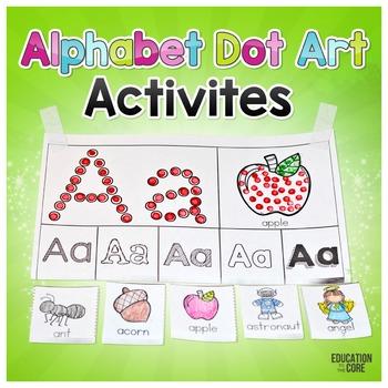 Alphabet Activities, Alphabet Dot Art, Alphabet Recognition
