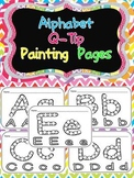 Alphabet Q-Tip Painting Pages- Preschool or Kindergarten W