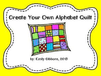 Alphabet Quilt Craftivity