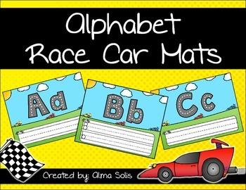 Alphabet Race Car Mats