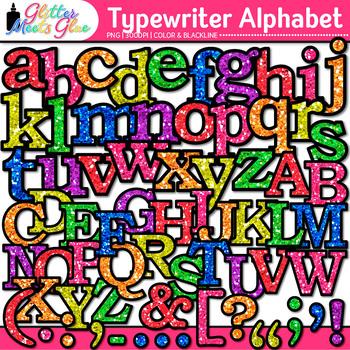 Typewriter Alphabet Clip Art {Great Back to School Classro