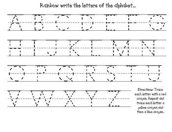Alphabet Rainbow Writing Handwriting Activity