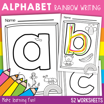 Letters of the Alphabet {Rainbow Writing}