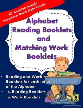 Alphabet Reading Booklets and Matching Work Booklets - Kin