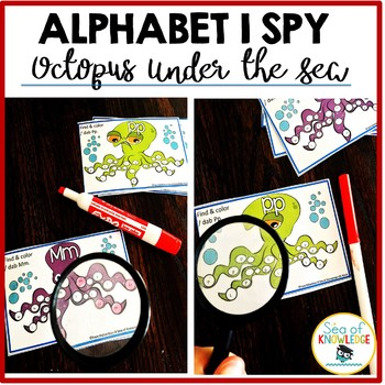 Alphabet Recognition & Practice {I Spy... Under the Sea}