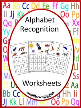 Alphabet Recognition NO PREP Printables P-K, K, Special Ed